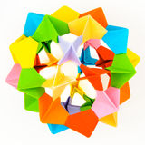 Origami modular sphere model Royalty Free Stock Images