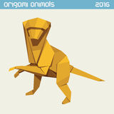 Origami monkey. Vector simple flat illustration. New Year 2016. Origami monkey. Vector clear simple flat illustration. New Year 2016 Royalty Free Stock Photo
