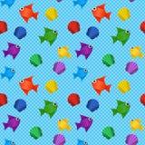 Origami morza wzór Fotografia Stock