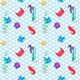 Origami morza wzór Fotografia Royalty Free