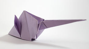 Origami mouse Royalty Free Stock Image