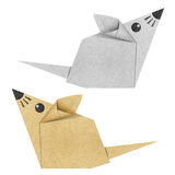 Origami mouse recycled papercraft Stock Images