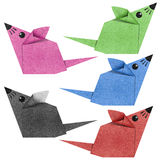 Origami mouse recycled papercraft Stock Photos