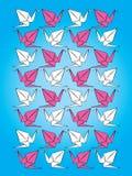 Origami Muster-vektorhintergrund vektor abbildung