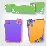 Origami notepaper folded note sheets Stock Photography