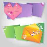 Origami notepaper folded note sheets Stock Image