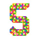 Origami number 5 fifth Realistic 3D origami effect isolated. Figure of alphabet, digit. vector illustration