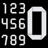Origami numbers set. Vector. Stock Photography