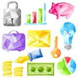 Origami office object Stock Photos
