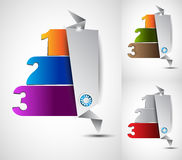 Origami option menu' with 3 choices Stock Photo