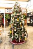 Origami på julgranen, San Francisco Arkivbilder