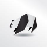 Origami-Panda Lizenzfreies Stockbild