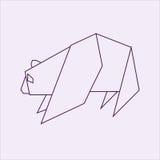 Origami-Panda Lizenzfreie Stockbilder