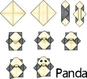 Origami panda stock illustration