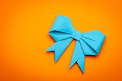 Origami papaer bow Stock Photos