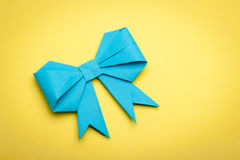 Origami papaer bow Royalty Free Stock Photo