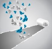 Origami paper Stock Image