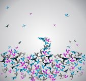 Origami paper Stock Image