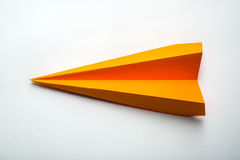 origami paper airplane Stock Photo