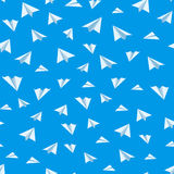 Origami paper airplane vector seamless background Stock Photography