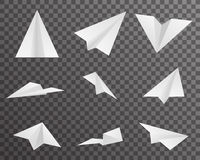 Origami Paper Airplanes Icons Set Symbol Transparent Background Design  Vector Illustration Royalty Free Stock Photos
