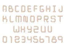 Origami paper alphabet Stock Image