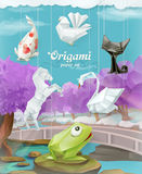 Origami paper animals Royalty Free Stock Photo