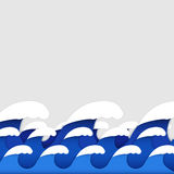 Origami paper art style of sea waves Royalty Free Stock Image