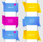 Origami paper banners Stock Images