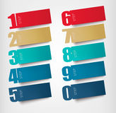 Origami paper banners with numbers. Vector stock illustration