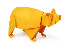 Origami paper bear Royalty Free Stock Photo