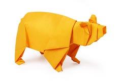 Origami paper bear Royalty Free Stock Photo