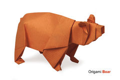 Origami paper bear Royalty Free Stock Photography