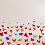Origami paper bird on abstract background Royalty Free Stock Photos
