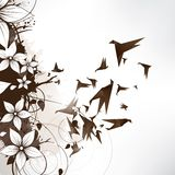 Origami paper bird on abstract background Stock Images