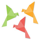 Origami paper bird. Isolated on white background Royalty Free Stock Photos