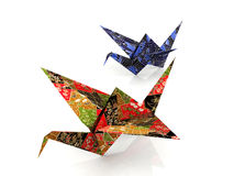 Origami paper birds Stock Photos