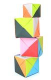 Origami paper blocks Stock Photography