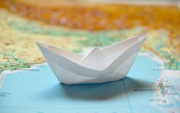 Origami: paper boat Stock Photography