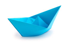 Origami paper boat Stock Photo