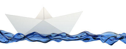 Origami, paper boat Royalty Free Stock Images