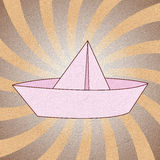 Origami paper boat Royalty Free Stock Photo