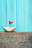 Origami paper boat Royalty Free Stock Image
