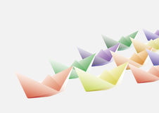 Origami paper boats Stock Photos