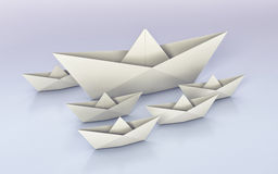 Origami, paper boats royalty free illustration