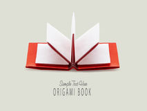 Origami paper book Royalty Free Stock Photos