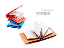 Origami paper books Royalty Free Stock Images