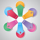 Origami paper colorful arrows Royalty Free Stock Images