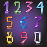 Origami paper colorful number figures Stock Photography