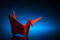 Origami paper crane Stock Photos